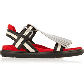 MARNI - Convertible fringed leather sandals