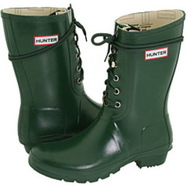 HUNTER - Lace-up Rain Boots