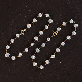 SOURCE - Keshi Pearl Chain Bracelet - SOURCE