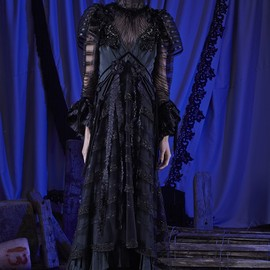 MARC JACOBS - Vintage Taffeta Tiered Gown