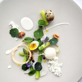 Chef Martyn Meid - The Dock, London - Asparagus dish