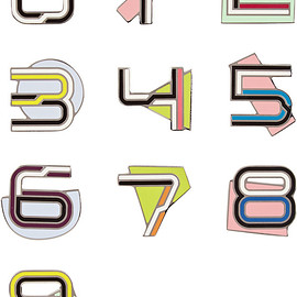 PROENZA SCHOULER - Number enameled brooches