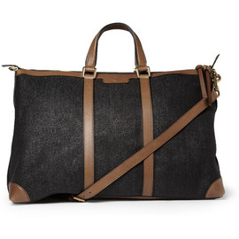 Gucci - Leather and Raffia Holdall