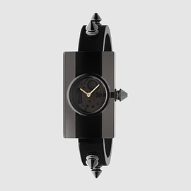 Gucci - Stud-trimmed Plexiglas watch