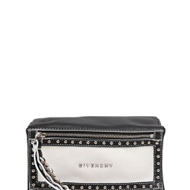 GIVENCHY - SS2015 PANDORA WRISTLET TOW TONE LEATHER BAG