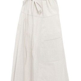 MARNI - SS2015 Compact Canvas Long Skirt In Natural