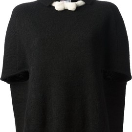 RED VALENTINO - knitted cape top