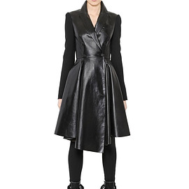 GIVENCHY - FW2015 WOOL TWILL & NAPPA LEATHER COAT
