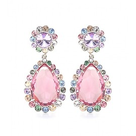miu miu - Crystal clip-on earrings