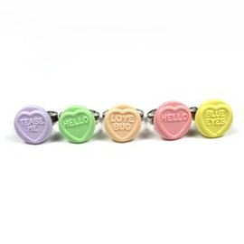 Love hearts candy ring