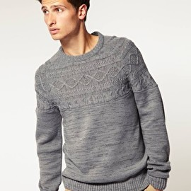 ASOS - Cable Detail Crew Neck Jumper