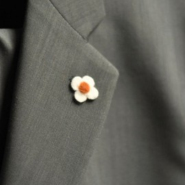 Wool Felt Flower Lapel Pin Boutonniere