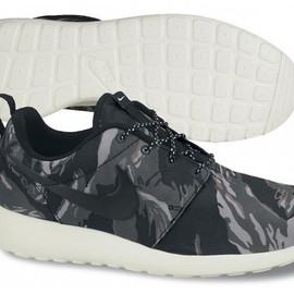 nike - roshe run gpx black tiger camo