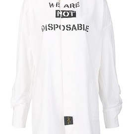 Vivienne Westwood Anglomania - We are Not Disposable シャツ