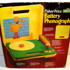 Fisher Price - 1983 Fisher Price Sesame Street Big Bird Portable Record Player