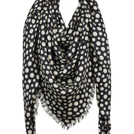 LOUIS VUITTON - Yayoi Kusama 草間彌生 Louis Vuitton Monogram Shawl Dots Infinity black
