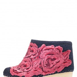 JEFFREY CAMPBELL - Jeffrey Campbell Shoes MALOU-FLR Platforms in Dark Blue Red Combo