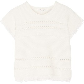 Madewell - Cutout fringed cotton-blend top