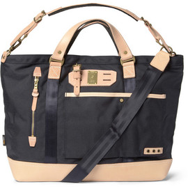 masterpiece - Master-Piece Surpass Leather-Trimmed Nylon Tote Bag