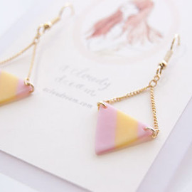 candy necklace moonly star PINK