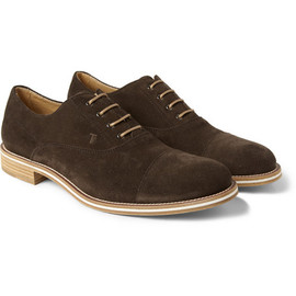 TOD'S - Tod's No_Code Suede Oxford Shoes