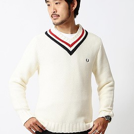 FRED PERRY - FRED PERRY×BEAMS / 別注 カノコチルデンセーター