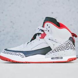 Nike - NIKE AIR JORDAN SPIZIKE WOLF GREY/GYM RED-BLACK-WHITE