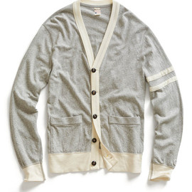 Todd Snyder - TODD SNYDER + CHAMPION KNITS Grey Heather Jersey Cardigan