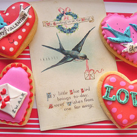 nice icing - Rockabilly Valentine's cookies♥