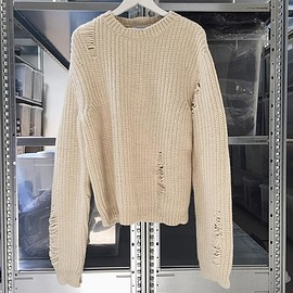 J.W. ANDERSON - CHUNKY SWEATER OFF WHITE