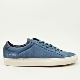 Common Projects - Men's Blue Vintage Low Suede Sneakers