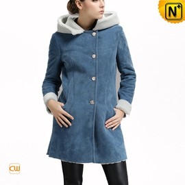 CWMALLS - Suede Leather Shearling Womens Coat CW644358