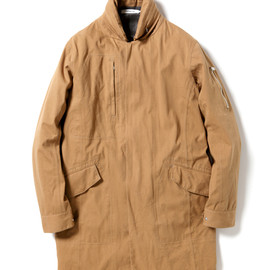 nonnative - DRIVER COAT - COTTON CHINO CLOTH VEGETABLE DYED WITH GORE-TEX® PACLITE 2.5L