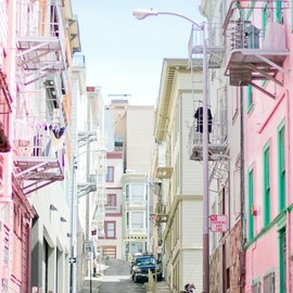 san francisco - pastel colors