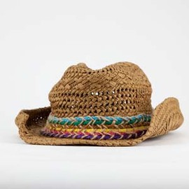 Multicolored Band - Straw Cowboy Hat