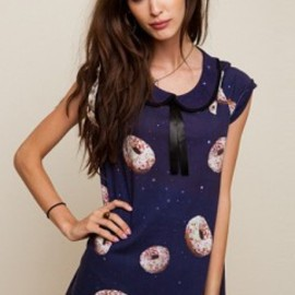 DROP DEAD CLOTHING - DROP DEAD CLOTHING Space Donuts Girls Tops