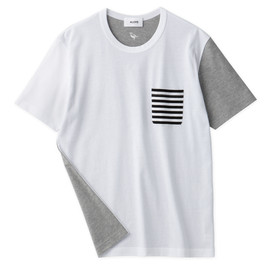 Aloye - Dots & Stripes #8 / Short-Sleeve Pocket T-Shirt