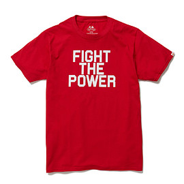 HEAD PORTER PLUS, FRUIT OF THE LOOM - FIGHT THE POWER TEE RED