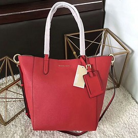 MICHAEL KORS - MICHAEL Michael Kors Penny Leather Convertible Tote Red