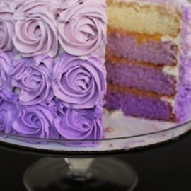 cake in ombre!