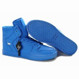 ture blue supra vaider leather men high top shoes
