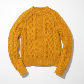 N.HOOLYWOOD - CABLE KNIT (MUSTARD)
