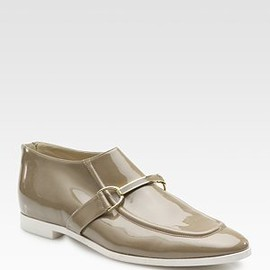 STELLA McCARTNEY - Sleek patent leather Holzer loafer shoe