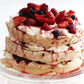 Australian - Three-tier brown sugar pavlova