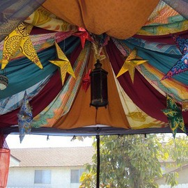 Tent ceiling fabric