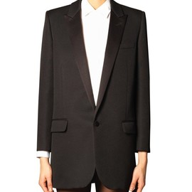 SAINT LAURENT - Single-breasted tuxedo jacket