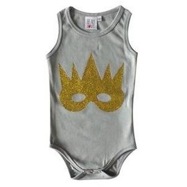 beau loves - gold mask body suit
