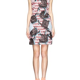 PETER PILOTTO - 'Volt' tweed floral embroidery dress