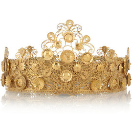 DOLCE&GABBANA - Gold-plated filigree crown
