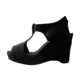 Slow and Steady Wins the Race - Wedge Sandal in Black
